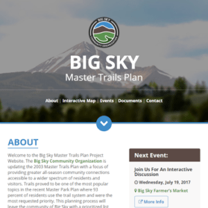 Big Sky Master Trails Plan