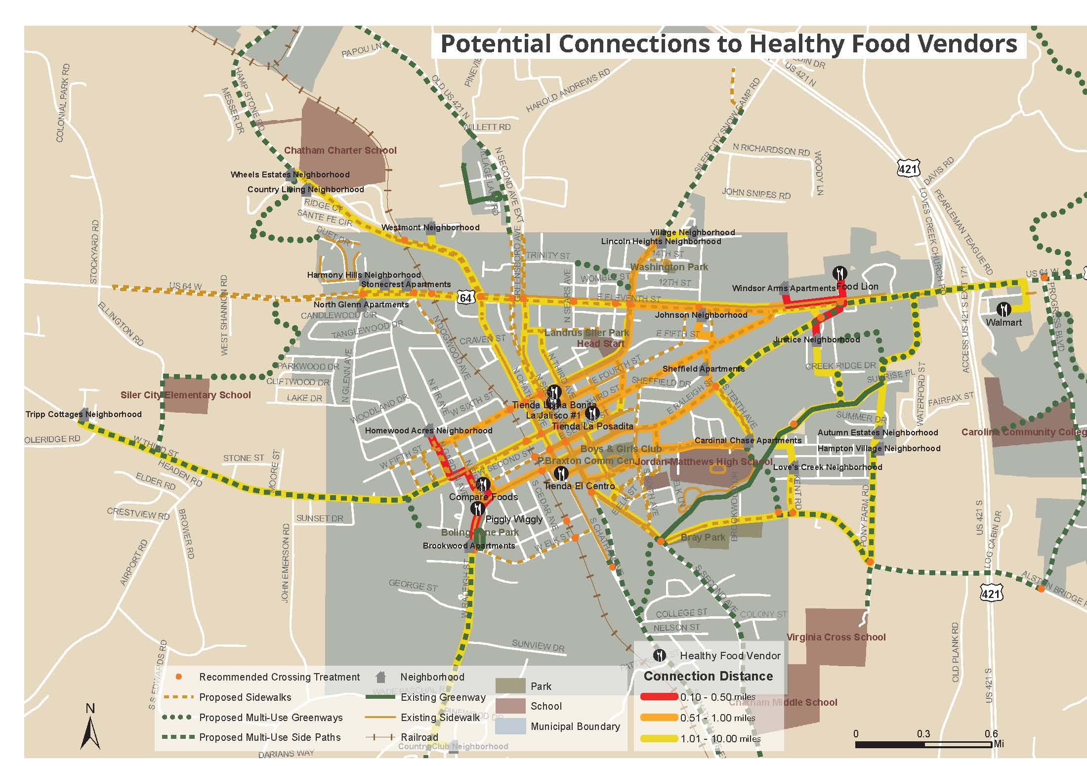 Siler City Comprehensive Pedestrian Plan And Healthy Living Supplement Alta Planning Design