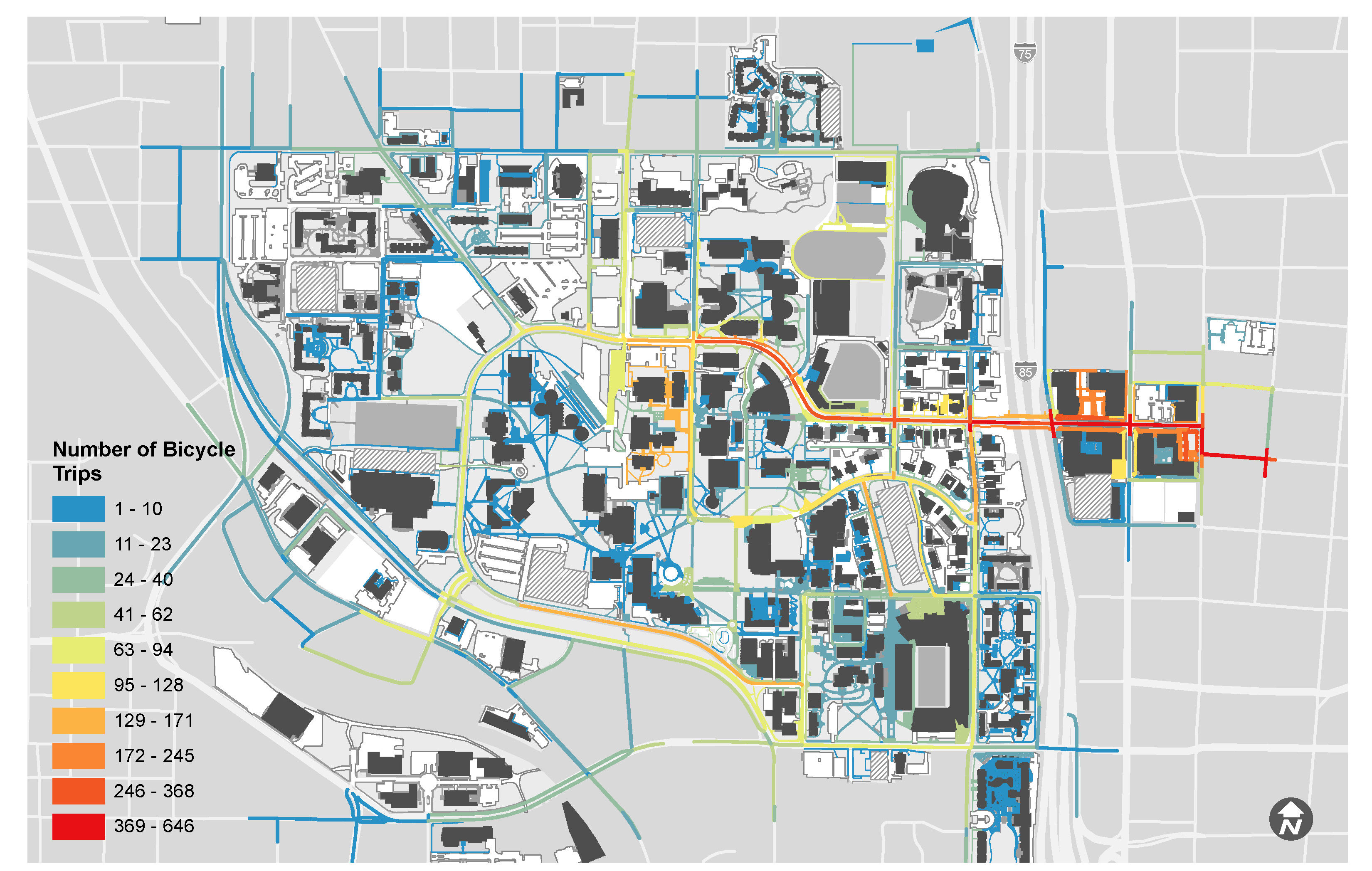 Map Of Georgia Tech Campus.Georgia Tech Campus Bicycle Master Plan Alta Planning Design