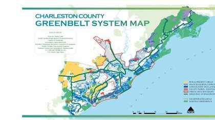 Charleston County Greenbelt Greenways Map