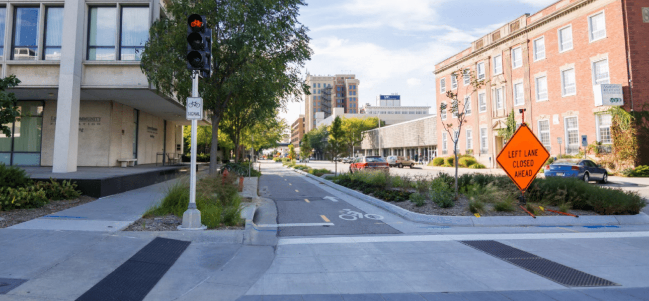 Lincoln N Street Cycle Track Design Alta Planning Design