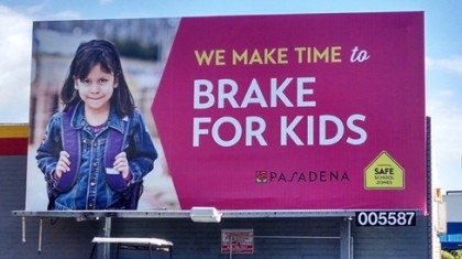 Pasadena SR2S Billboard close up