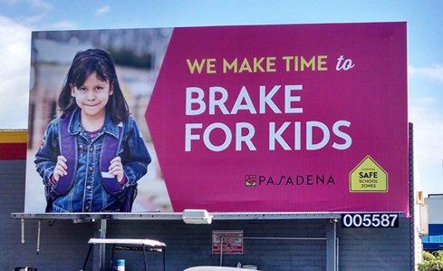 Pasadena SR2S Billboard close up