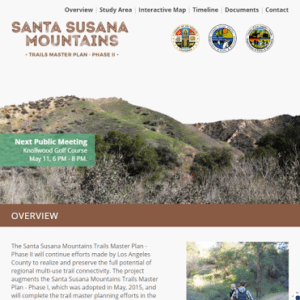 Santa Susana Mountains Trail Master Plan