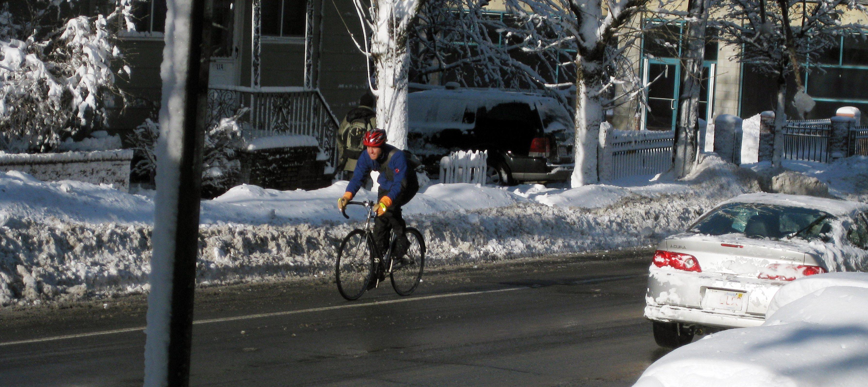 Snow cycling