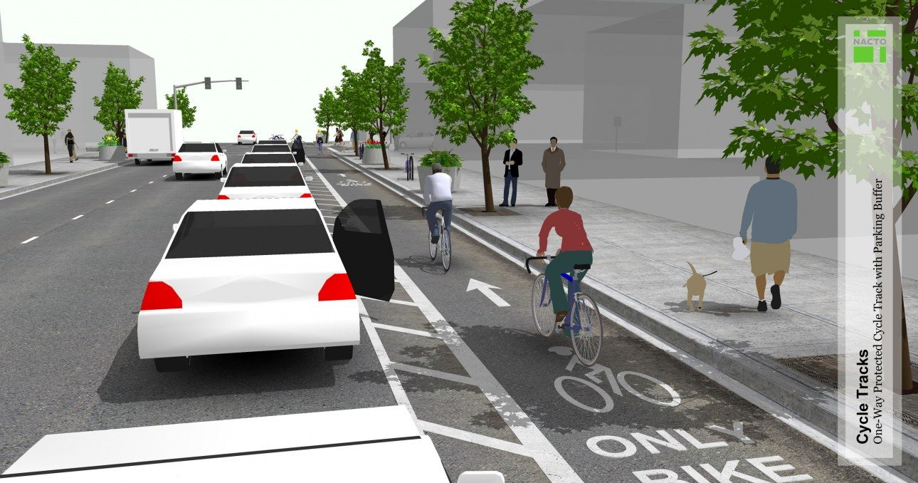 Project NACTO cycle track focus
